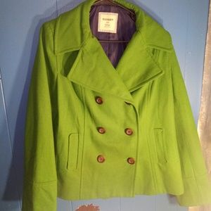🆕Green old navy pea coat